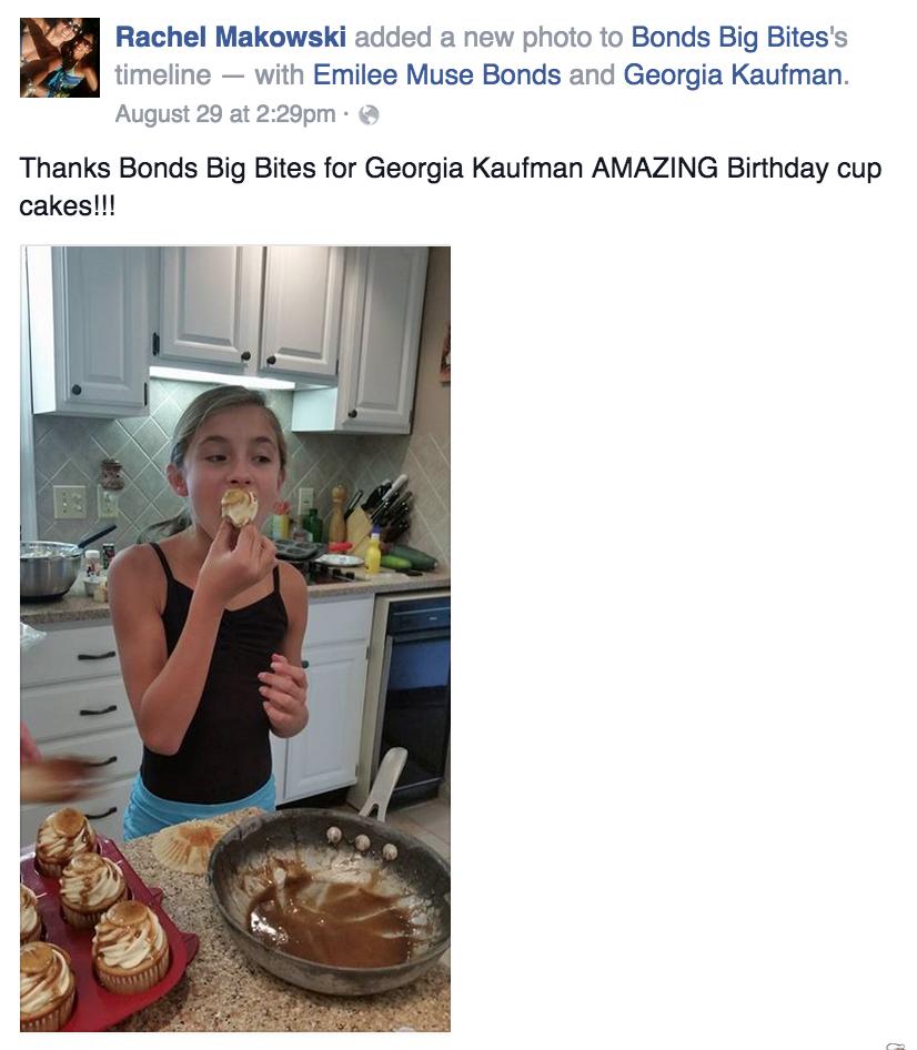 Birthday cup cakes for Georgia Kaufman
